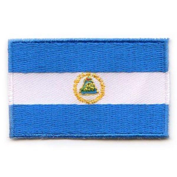 Nicaragua-Flaggenflecken