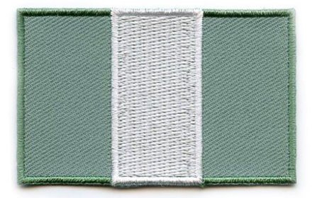 Flaggenpatch Nigeria