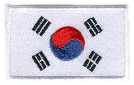 vlag patch Zuid-Korea
