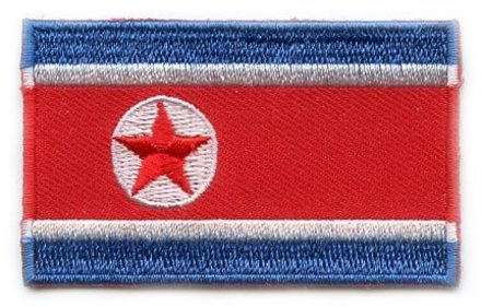 Flag Patch Nordkorea