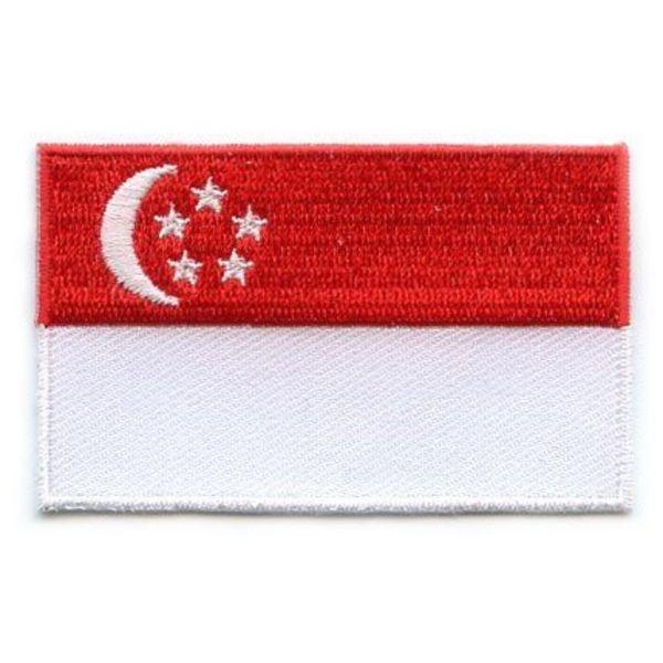 Singapur Flagge Patch
