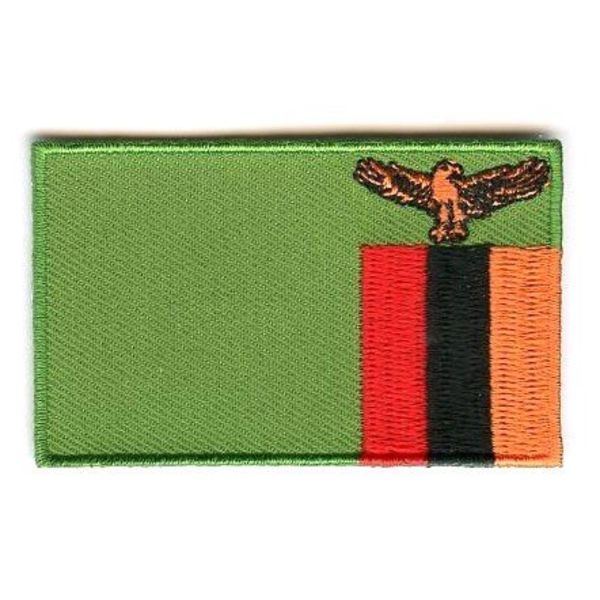 Flagge Patch Sambia