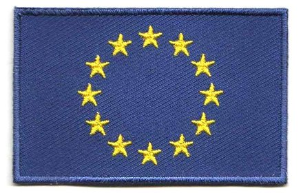 Flaggen-Patch Europa