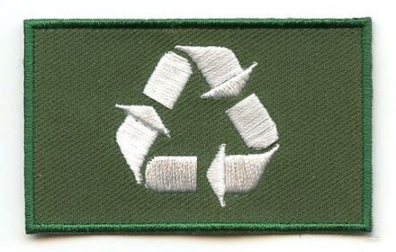 Flaggen-Patch Recycle
