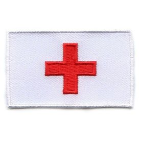 Flaggen-Patch Rotes Kreuz