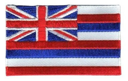 Flaggenpatch Hawaii