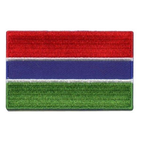 Flagge Patch Gambia