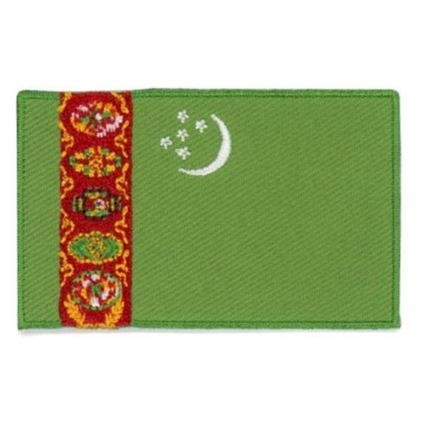 BACKPACKFLAGS flag patch Turkmenistan