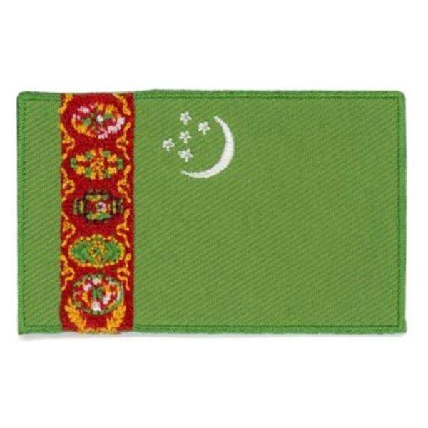 Flaggenpatch Turkmenistan
