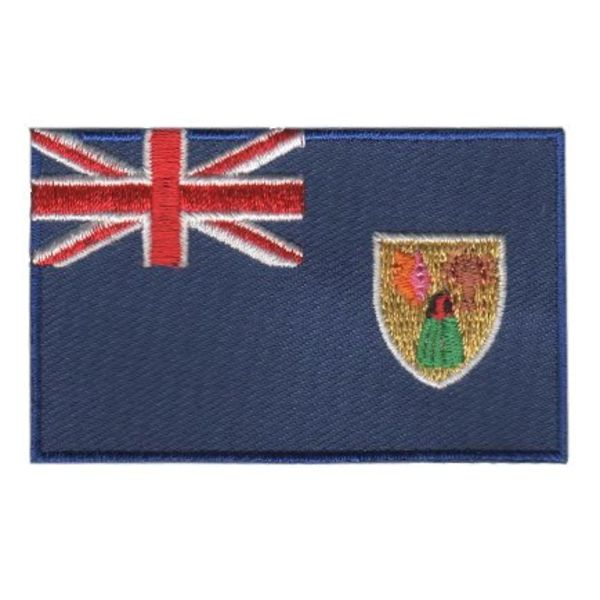 BACKPACKFLAGS flag patch Turks and Caicos Islands