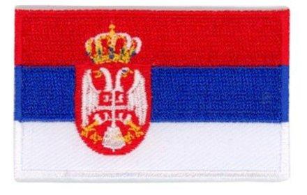 vlag patch Servië