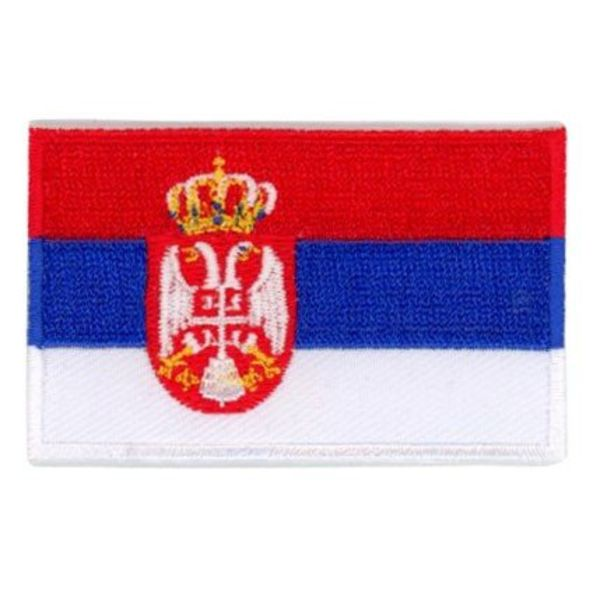 Serbia flag patch