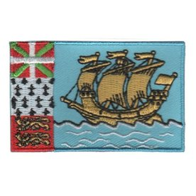 BACKPACKFLAGS flag patch Saint Pierre and Miquelon