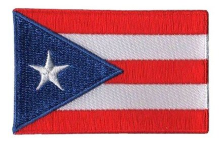 Flaggenpatch Puerto Rico