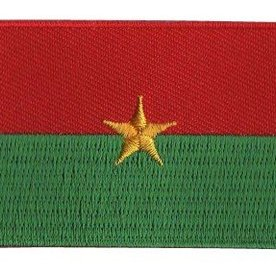 Flaggenpatch Burkina Faso