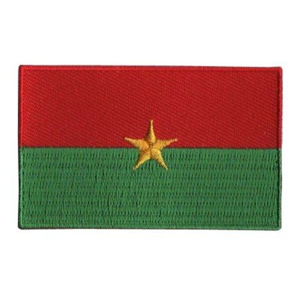 BACKPACKFLAGS flag patch Burkina Faso
