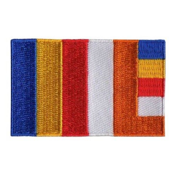 Flaggenpatch Buddhismus