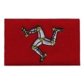 BACKPACKFLAGS flag patch Isle of Man