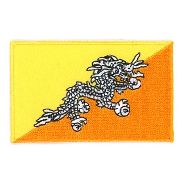BACKPACKFLAGS flag patch Bhutan