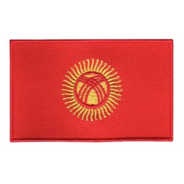 Flaggenpatch Kirgisistan