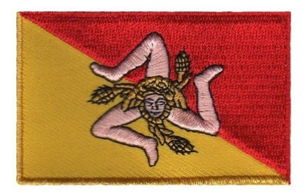 Flaggen-Patch Sizilien