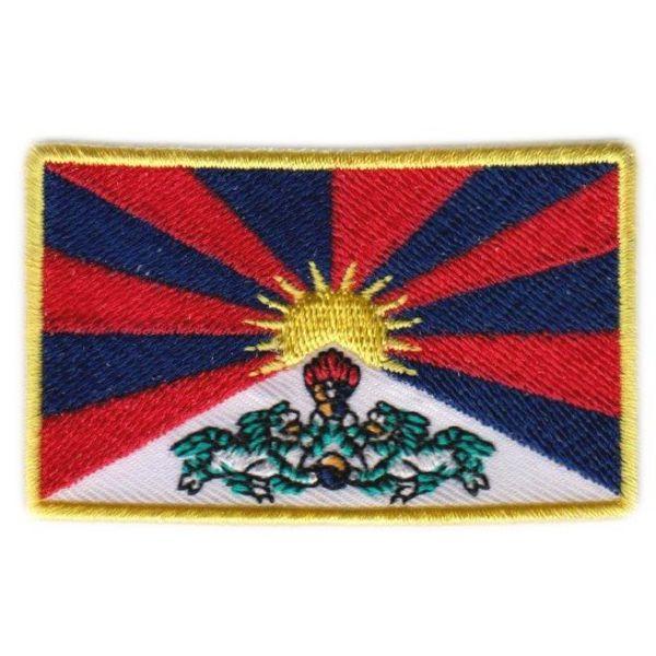 Flaggenpatch Tibet
