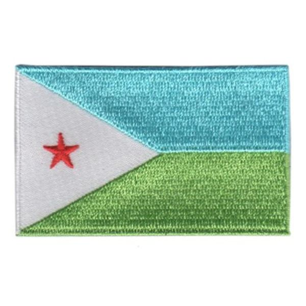 Flagge Patch Dschibuti