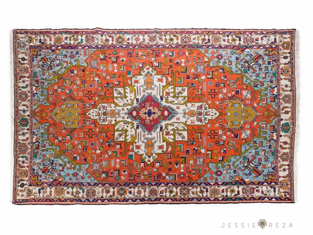 perzisch warni tapijt van zijde. Black Bedroom Furniture Sets. Home Design Ideas
