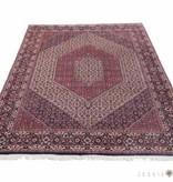 Fijn Bidjartikab tapijt met zijde