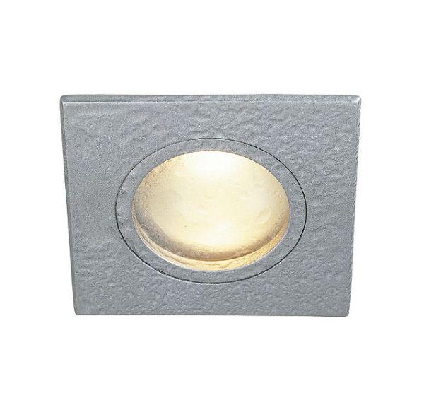 DOLIX MR16, vierkant inbouwspot, zilvergrijs, max. 35W