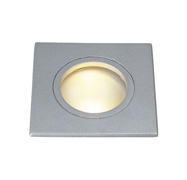DOLIX GU10, inbouwspot, vierkant, zilvergrijs, max. 35W