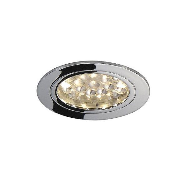 DL 123, inbouwspot, LED, rond, chroom, 24 LED, 3000K