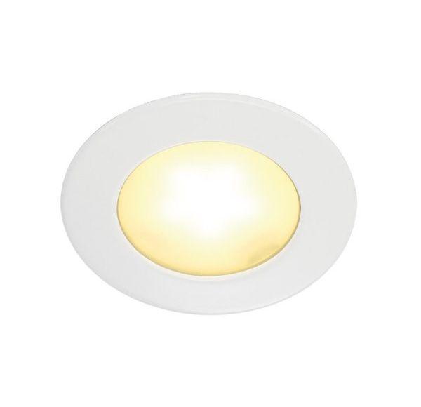DL 126 LED, inbouwspot, rond, wit, 3W LED, warm wit, 12V