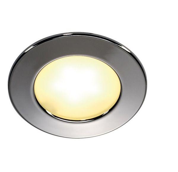 DL 126 LED, inbouwspot rond, chroom, 3W LED, warm wit, 12V