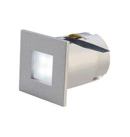 MINI FRAME LED, inbouw armatuur, vierkant, zilvergrijs, 0,3W, 4 LED,