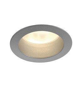 LED HORN ROUND zilvergrijs 3x3W ww