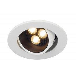TRITON HORN 3 SET, inbouwspot, rond, mat wit, 3x 1W LED, 3000K, 12°, incl. driver
