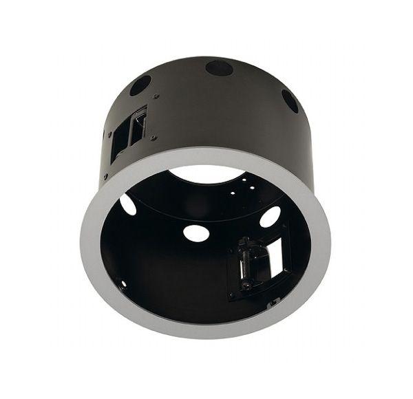 AIXLIGHT PRO 1 FLAT FRAME ROND, inbouwframe, zilvergrijs/zwart
