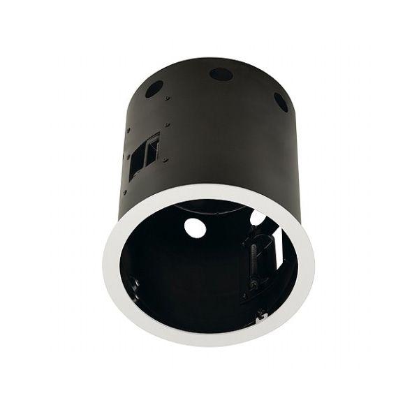 AIXLIGHT PRO 1 FRAME ROND, inbouwframe, mat wit/zwart