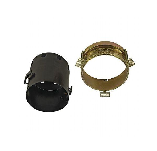 AIXLIGHT PRO 1 FRAMELESS ROND, inbouwframe, zwart, incl. gipskit