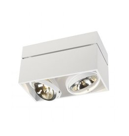 KARDAMOD SURFACE SQUARE QRB DOUBLE, plafond armatuur, wit, max. 2x 75W