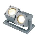 CUBIX II,, zilvergrijs, 2x GU10, Energy Saver max. 2x 25W