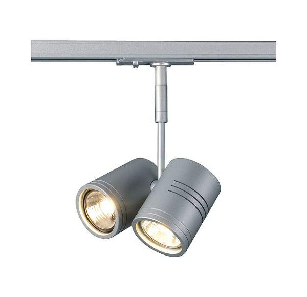 BIMA II, zilvergrijs, 2x GU10, max. 50W, incl. 1-fase adapter