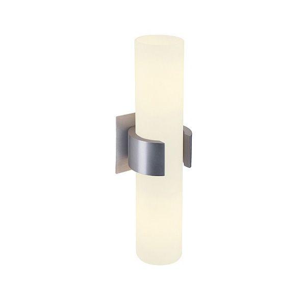 DENA II, alu-geborsteld, glas deels gesatineerd, 2x E14, max. 40W