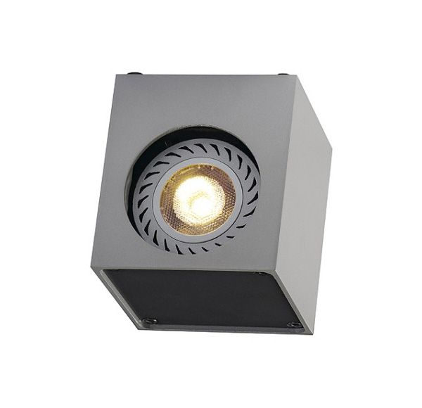 ALTRA DICE WL-1, wand armatuur, vierkant, zilvergrijs/zwart, GU10, max. 35W
