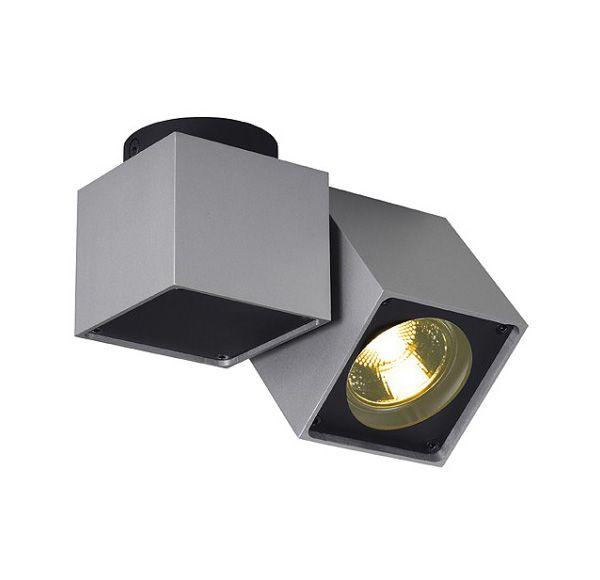 ALTRA DICE SPOT 1, plafond armatuur, vierkant, zilvergrijs/ zwart, GU10, max.