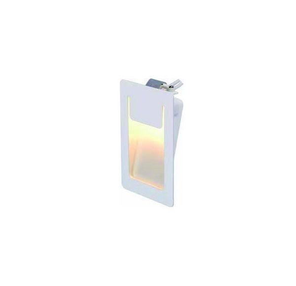 DOWNUNDER PURE, inbouw armatuur, vierkant, wit, 3,5W LED warmwit, 80x120mm