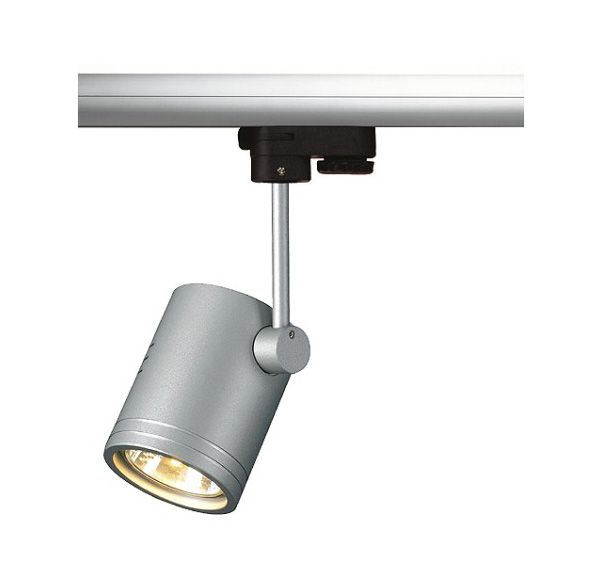 BIMA I, zilvergrijs, GU10, max. 50W, incl. 3-fase adapter