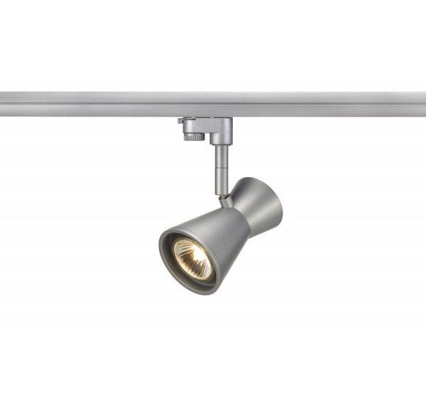 DIABO, spot, zilvergrijs, GU10, max. 35W, incl. 3-fase adapter