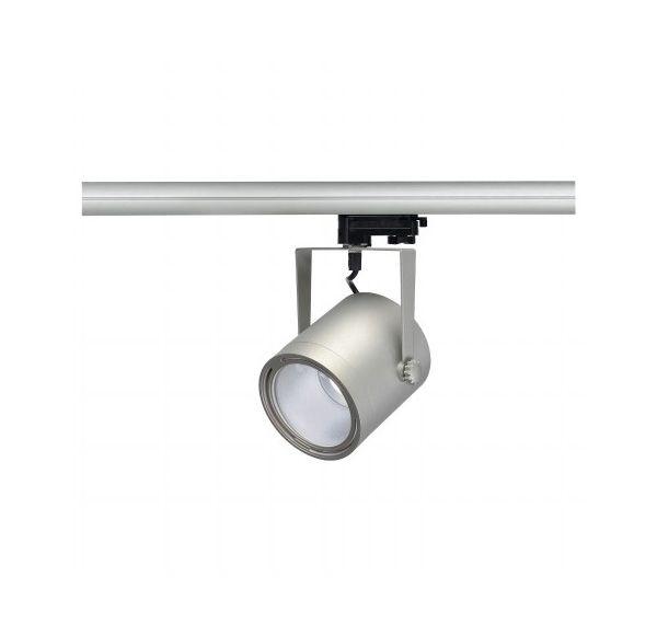 EURO SPOT LED DISK 800, zilvergrijs, 11W, 4000K, 60°, incl. 3-fase adapter,